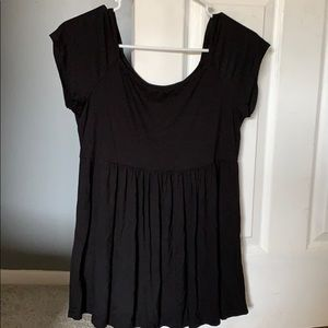 Black flowy shirt